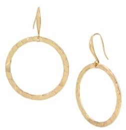 Robert Lee Morris Soho Hammered Gypsy Hoop Earrings