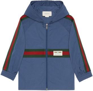 Gucci Children's nylon jacket with Web