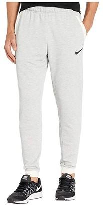 Nike Dry Pants Taper Fleece (Grey Heather/Pale Ivory/Black) Men's Casual Pants
