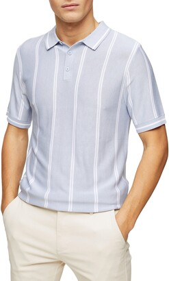 Topman Stripe Pique Polo