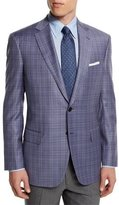 Brioni Colosseo Plaid Two-Button Wool Sport Coat, Lavender