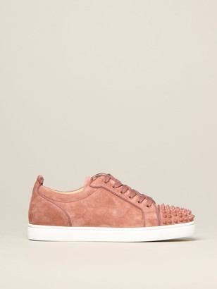 Christian Louboutin Luis Junior Sneakers In Suede With Studs