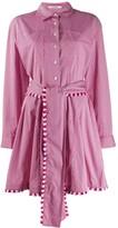 Derek Lam 10 Crosby Iona Belted Mini Stripe shirtdress