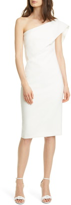 LIKELY Driggs One-Shoulder Popover Sheath Dress