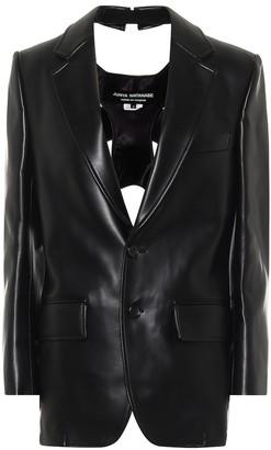 Junya Watanabe Faux leather blazer