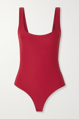 Alix Mott Stretch-jersey Thong Bodysuit - Red