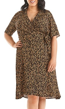 Estelle Plus Maple Sugar Printed Fit-and-Flare Dress