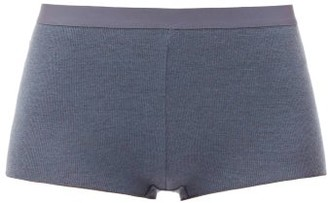 About - Riba High-rise Lycoell-blend Jersey Briefs - Charcoal