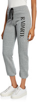 Rodarte Radarte Graphic Tie-Waist Sweatpants