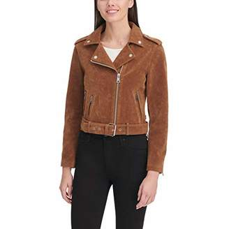Levi's Women's Leather Asymmetrical Belted Motorcycle Jacket