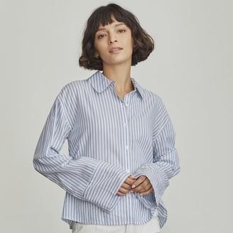 Elizabeth and James Women's Wide Cuff Button-Down Shirt