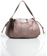Nancy Gonzalez Metallic Pink Crocodile Large Hobo Handbag EVHB