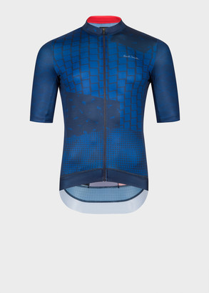 Paul Smith Navy Archive Print Cycling Jersey