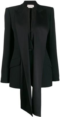 Alexander McQueen silk ribbon embellished blazer