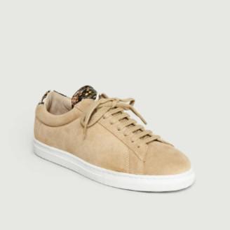 Zespà Beige Leather Apla Viper ZSP4 Sneakers - 36 | leather | beige - Beige