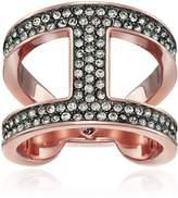Michael Kors Tone Black Pave Ring