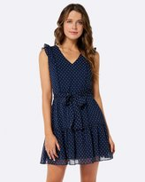 Forever New Narelle Lace Trim Dress