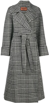Missoni Houndstooth Check Belted Coat