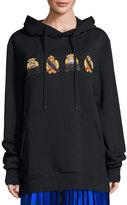 Public School Lance Hooded Crest Sweatshirt, Black