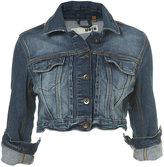 Indigo Denim Crop Jacket