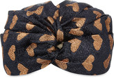 Gucci Heart-print lurex turban