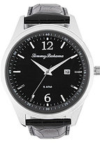 Tommy Bahama Siesta Key Analog & Date Crocodile-Embossed Leather-Strap Watch