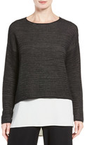 Eileen Fisher Boxy Silk Blend Blouse