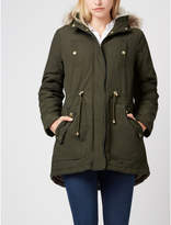 George Faux Fur Trim Hooded Parka