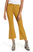 AG Jeans The Quinne Coated High Waist Crop Flare Jeans