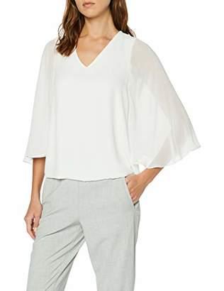 Dorothy Perkins Women's Chiffon Mix Angel Sleeve TOP T-Shirt,(Size:)