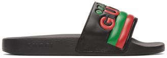 Gucci Black Original Pool Slides