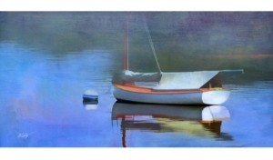 """West of the Wind Blue Reflections Outdoor Wall Art, 48"""" x 24"""""""