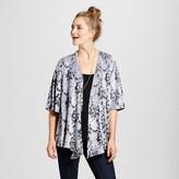 Knox Rose Women's Velvet Floral Drape Front Jacket - Knox Rose Gray