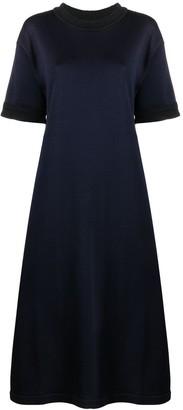 Jil Sander knitted longline T-shirt dress