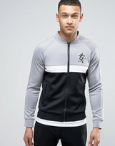 Gym King Track Jacket In Muscle Fit