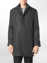 Calvin Klein Button + Zip Front Canton Raincoat