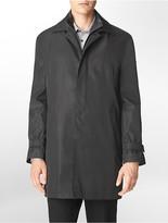 Calvin Klein Button + Zip Front Canton Raincoat