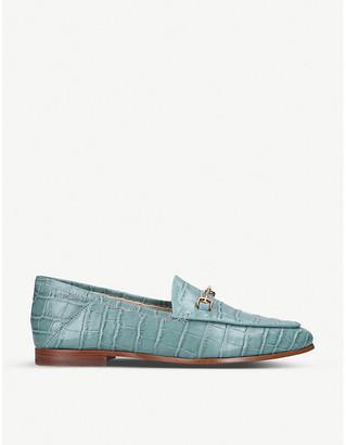 Sam Edelman Loraine crocodile-embossed leather loafers