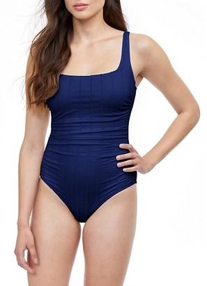 Gottex Swim Textured One-Piece Swimsuit