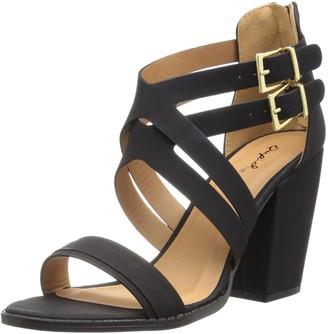 Qupid Women's Chunky Heeled Sandal