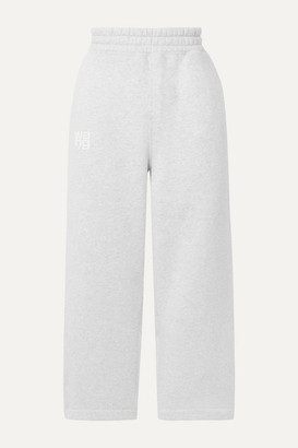 Alexander Wang Printed Cotton-blend Jersey Track Pants - Light gray