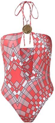 AMIR SLAMA Geometric Print Swimsuit