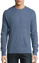 Black Brown 1826 Cable-Knit Wool-Blend Sweater