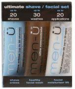 Menu men-u Men-U Set 3 x 15ml - Ultimate Shave/ Facial Set