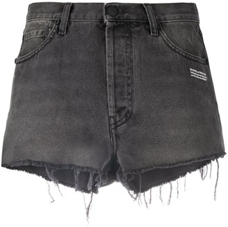Off-White Raw-Edge Denim Shorts