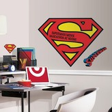 Superman RoomMates Logo Dry Erase Peel and Stick Giant Wall Decals