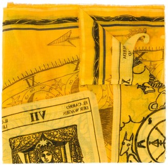 Faliero Sarti Fortuna astrology-print scarf
