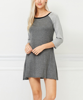 Bellino Heather Gray & Charcoal Shift Dress