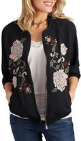 Democracy Floral Embroidered Bomber Jacket