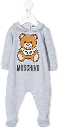 Moschino Kids Teddy Bear logo-print pajama